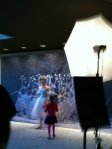 Ballerina and girl before The Nutcracker at the Lincoln Centre